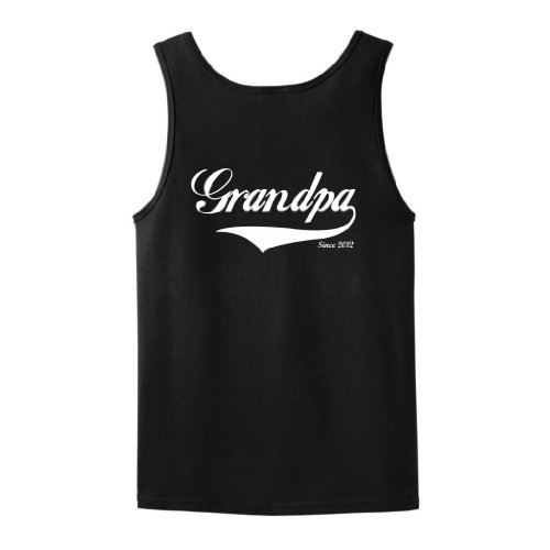 Grandpa Since 2012 Tank Top Large Black front-905545