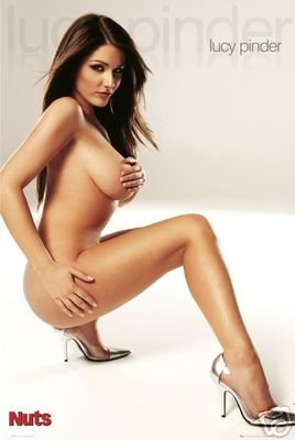 LUCY PINDER POSTER Nuts - Hot Sexy Girl BABE RARE NEW