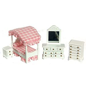 Selena White Canopy Bedroom Set | furniture Selena White Canopy