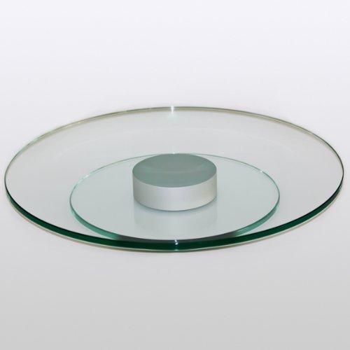 Drehteller, Drehtablett, Servierplatte, Käseplatte, Kuchenplatte – Klarglas – Durchmesser 400 mm – kostenlose Lieferung