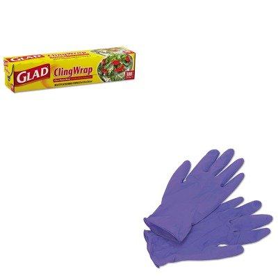Kitcox00022Kim55082 - Value Kit - Glad Plastic Cling Wrap (Cox00022) And Kimberly Clark Purple Nitrile Exam Gloves (Kim55082)