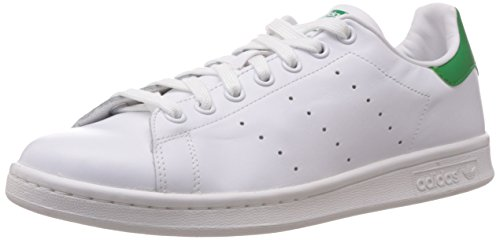 Adidas Stan Smith Scarpe Low-Top, Unisex adulto, Bianco/Verde, 42