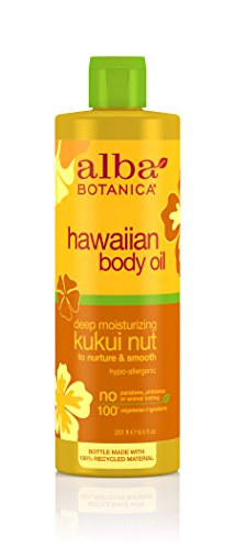 Alba Botanica Hawaiian, Kukui Nut Body Oil, 8.5 Ounce