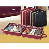 Urban Living Shoe Tote Organizer To Hold 6 Pair Of Shoes(38.1X33.02 Cm,Maroon)