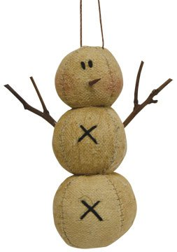 Primitive Snowman Christmas Tree Ornament