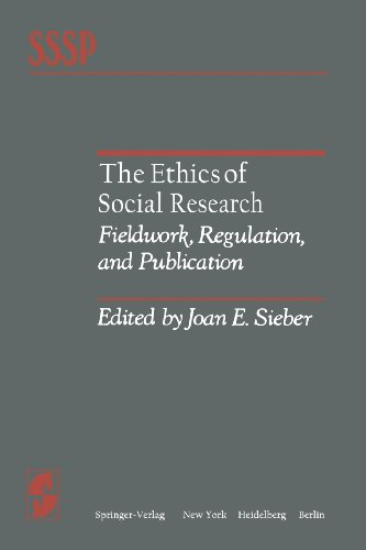 The Ethics of Social Research: Fieldwork, Regulation, and Publication (Springer Series in Social Psychology)