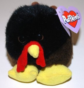 Puffkins Strut the THANKSGIVING TURKEY Plush (1998)