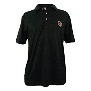 Oklahoma Sooners Mens Cutter and Buck Drytec Luxe Points Drive Polo by Cutter & Buck