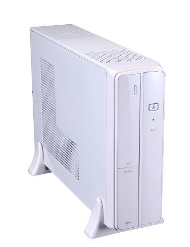 Xion mATX/ITX Slim USB 3.0 Desktop Case with 5-In-1 Card-Reader and 300 Watt Power Supply XON-720P_WT - White