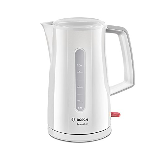 Bosch Wasserkocher TWK 3A 011 2400 Watt, 1.7 Ltr, weiss/hellgrau