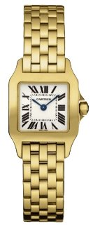 Cartier Santos Demoiselle 18k Yellow Gold Ladies Watch W25063X9