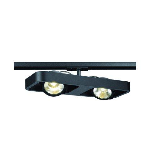 SLV 1-Phasen Strahler Lynah Double, 2 x 10W, COB LED, 3000K, 24 Grad, inklusiv Adapter, schwarz 143770
