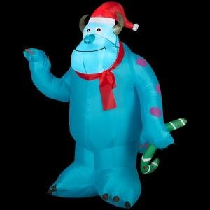 Gemmy Airblown Inflatable Christmas Disney Monsters University Sulley 3.5' Tall front-96525