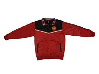 UEFA Adult Manchester United Track Jacket - Home (Red, Medium)