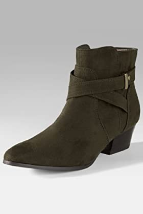 Limited Collection Pointed Toe Zip & Strap Boots [T02-0827A-S-LCTB]