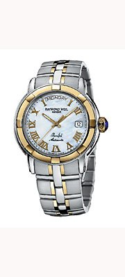 Raymond Weil Men's 2844-STG-00908 Parsifal White Mother-Of-Pearl Dial Watch