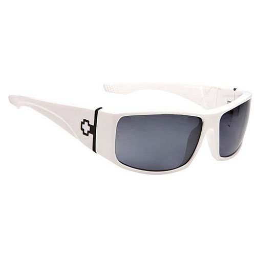 Spy Cooper XL Sunglasses - Spy Optic Steady Series Casual Wear Eyewear - Color: Shiny White/Grey, Size: One Size Fits All