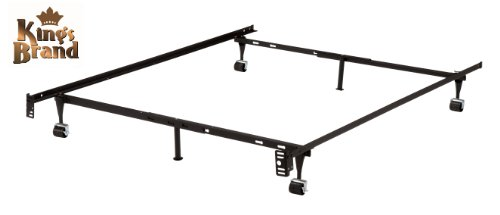 Buy Discount 6-Leg Heavy Duty Adjustable Metal Queen, Full, Full XL, Twin, Twin XL, Bed Frame With R...