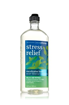 Bath & Body Works Aromatherapy Stress Relief Eucalyptus Basil Body Wash 10 Oz. Add Bath