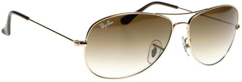 Ray Ban Cockpit Sunglasses RB3362 001/51 Arista/Crystal Brown Gradient 59mm