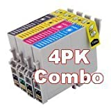 1 Set of 4, Compatible Ink Cartridges, for, Epson Stylus, D120, D78, D92, DX400, DX4000, DX4050, DX4400, DX4450, DX5000, DX5050, DX6000, DX6050, DX7000, DX7400, DX7450, DX8400, DX8450, DX9400F, - T0715, TO715, T715 (Contains: T0711, T0712, T0713, T0714)