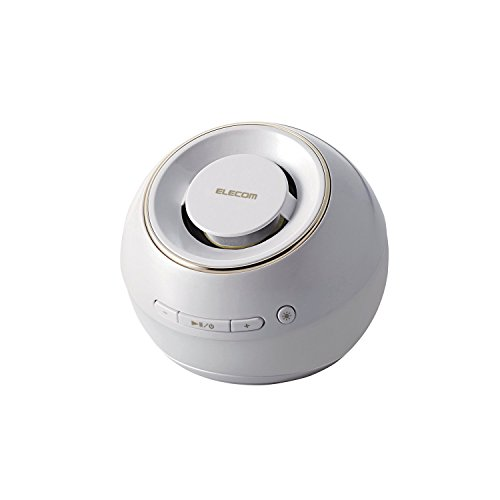 ELECOM Bluetoothスピーカー 防水 光る ホワイト LBT-SPWP200ECWH