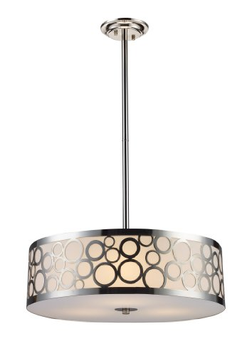 Elk 31025/3 Retro via 3-Light Chandelier In Polished Nickel