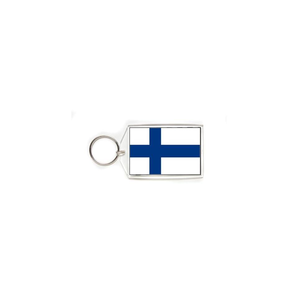 Finland Finnish Flag Double Sided Acrylic Key Ring Large Keyring