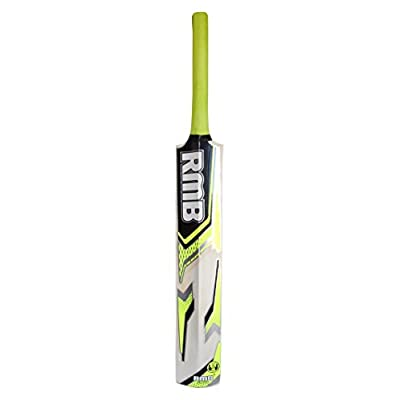 RMB Josh Popular Willow Light Cricket Bat with 3 Tennis Balls, Full Size (Lime Yellow)