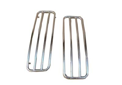 Chrome Top Rails for Harley Davidson Touring Hard Saddlebags (Hard Top Luggage Rack compare prices)