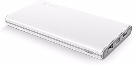 EasyAcc Colorato 10000mAh Batteria Esterna Portatile Caricabatterie per iPhone Samsung Smartphones Tablets - Bianco e Grigio