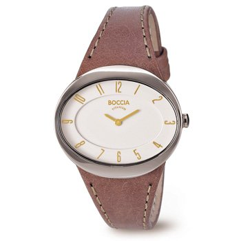 3165-14 Ladies Boccia Titanium Watch, Oval face