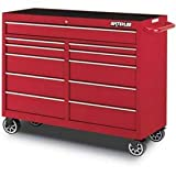 Waterloo 52″ 11-Drawer Tool Cabinet, Red with Liners and Upgraded Casters (PCA-5211RD-CL Picture