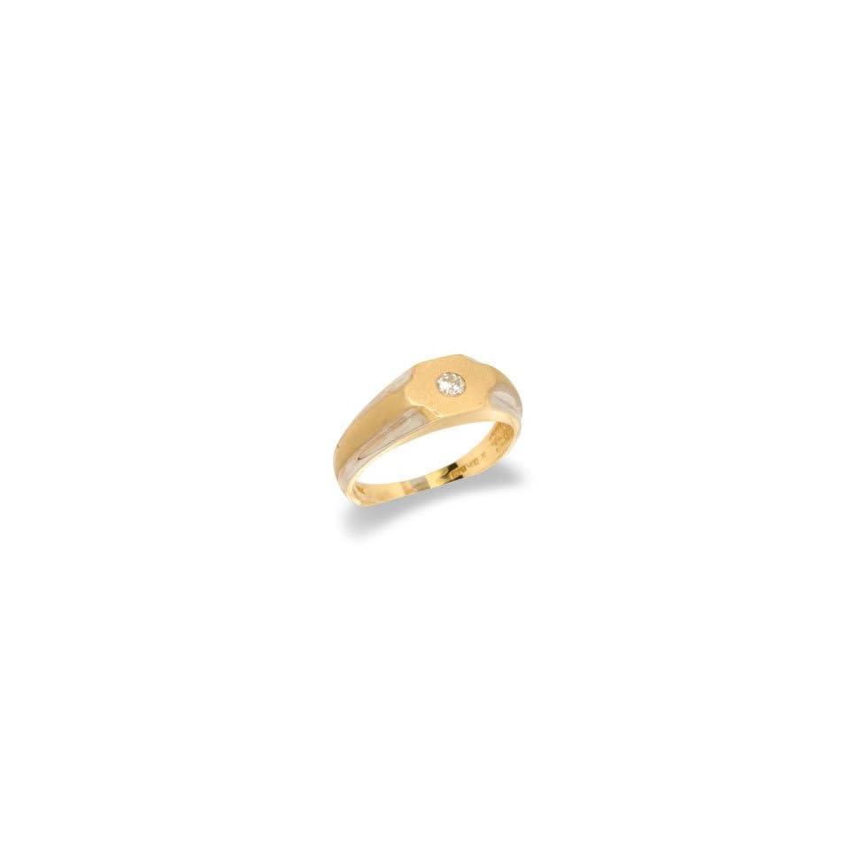 14K Two Tone Gold Mens Diamond Ring
