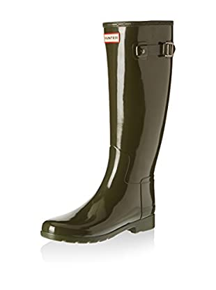 Hunter Botas de agua Original Refined Tall Gloss (Verde Oscuro)