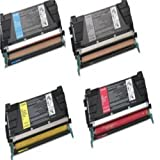 Compatible Black/Yellow/Magenta/Cyan Lexmark Multi-pack Cartridges for C524, C524DN, C524DTN, C524N