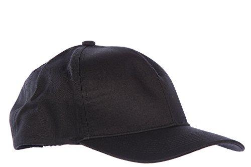 Emporio Armani EA7 cappello berretto uomo in cotone originale soccer nero
