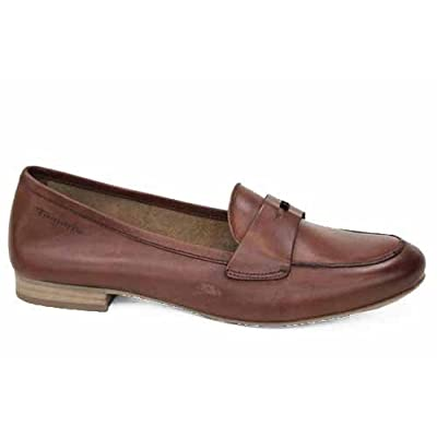 Amazon.com: Tamaris Womens Brown Leather Penny Loafers Ladies