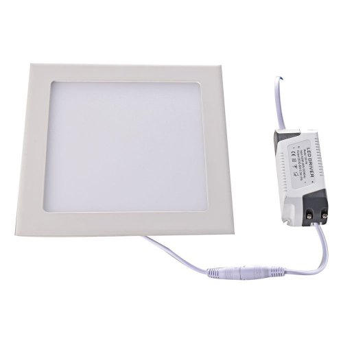 Led Panel 12W Warm White Color Square Slim Ac85-265V 60 Pcs Smd 2835 Led Chip Spotlight High Powered Energy Efficient Long Life Interiors 50,000 Hours Ceiling Light