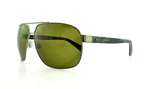 D&G Dolce & Gabbana Men'S Urban Aviator Sunglasses, Matte Grey & Brown, 63 Mm