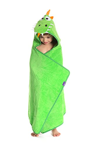 TheCroco Dinosaur Hooded Towel for Kids, Toddlers and Babies