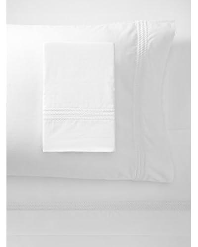 Downright Windsor Braid Sateen Embroidered Sheet Set  [White]