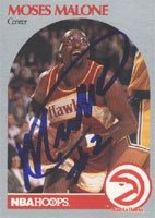 Mose Malone Atlanta Hawks 1990 NBA Hoops Autographed Hand Signed Trading Card - Nice... by Hall+of+Fame+Memorabilia