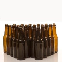 24 12oz Amber long neck bottles