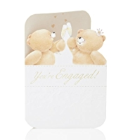 Forever Friends™ Champagne Engagement Card