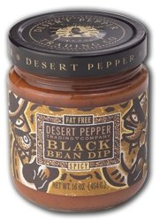 Desert Pepper Spicy Black Bean Dip 16 Ounce Jar by Desert Pepper Trading Company