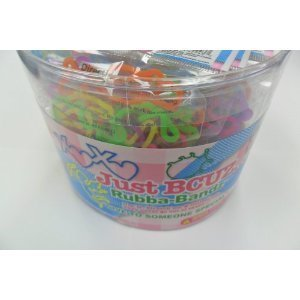 288-Bands-Pii-Just-Bcuz-Rubba-Bandz-Shaped-Rubber-Bands-Bracelets-24-Packs-Per-Tub-with-Free-Necklace