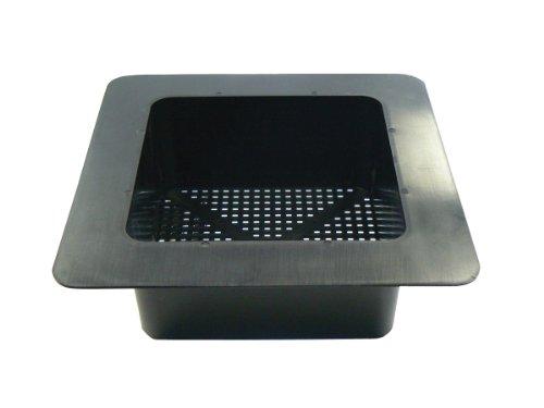 """R30-141 FLANGED STRAINER BASKET FOR FLOOR DRAIN & BAR SINK BLACK 11-3/4"""" SQUARE OUTSIDE 8"""" SQUARE INSIDE"""