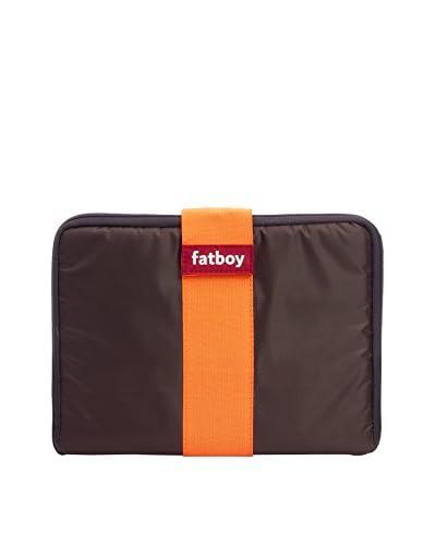 Famous Beanbag Maker Tablet Tuxedo, Brown/Orange