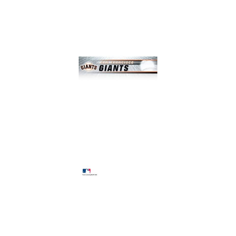 Turner MLB San Francisco Giants Notepads, 5 x 8 Inches, 2 Packs (8170340)